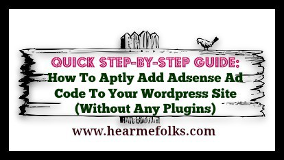 step by step guide how to add adsense ad code to wordpress