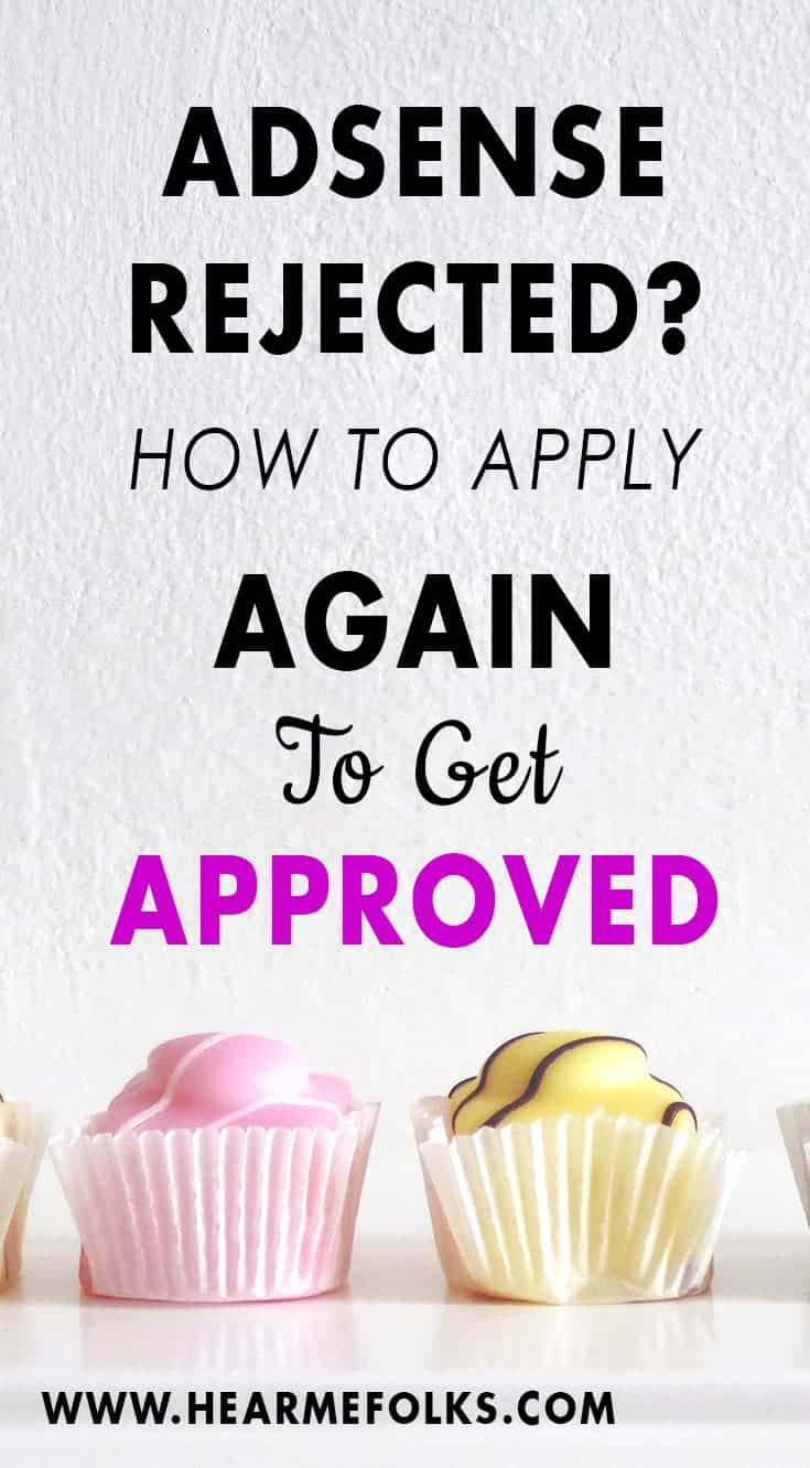 Adsense account disapproved? How To Fix it and get Adsense approval fast. Click through to read more and find out how to increase your Google adsense earnings!