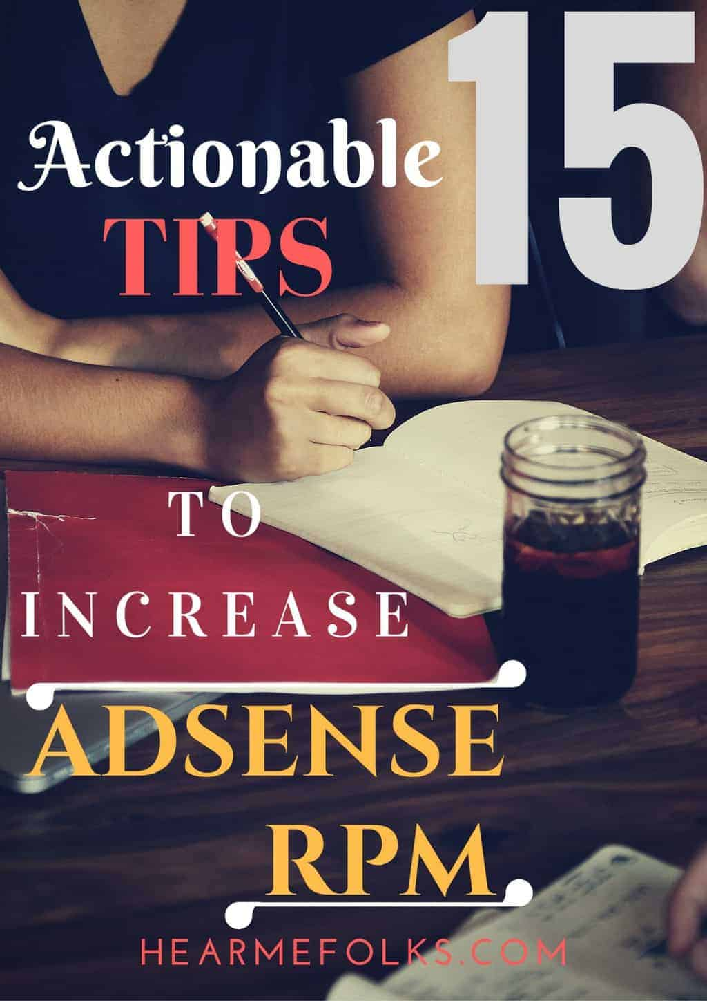 how to increase adsense rpm and revenue
