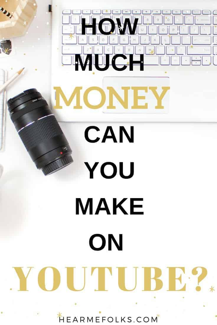 How much money can you make on youtube especially when you want to start a youtube channel as a side hustle.