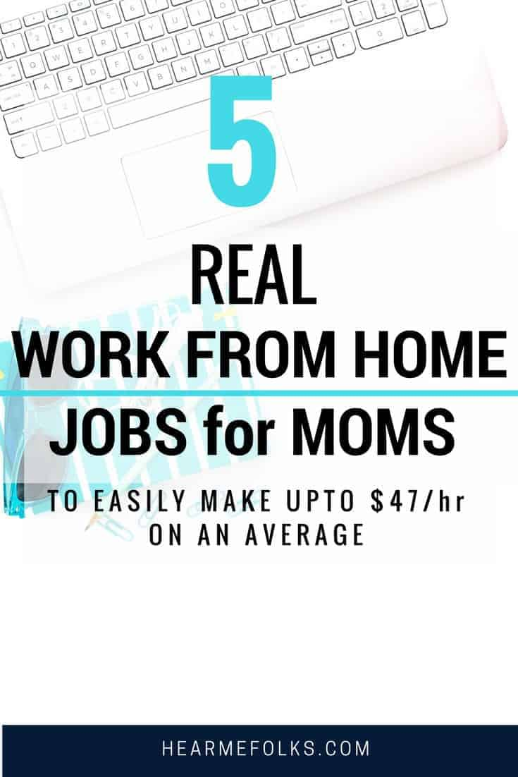 real work from home jobs legitimate for moms to make money online