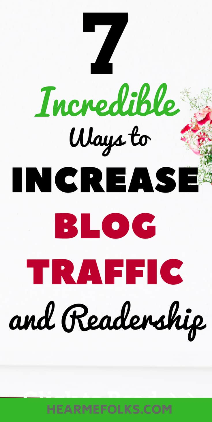 how to incease your blog traffic, drive readership and grow your blog