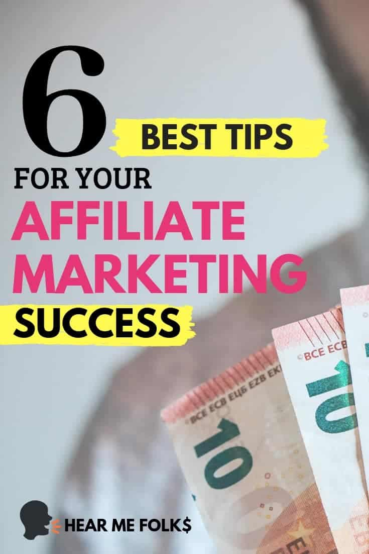 affiliate marketing tips to make money blogging