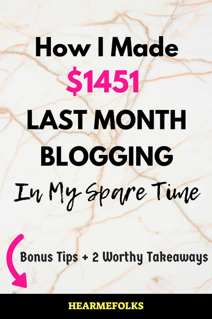 make money blogging staying at home. june income report for blogging.