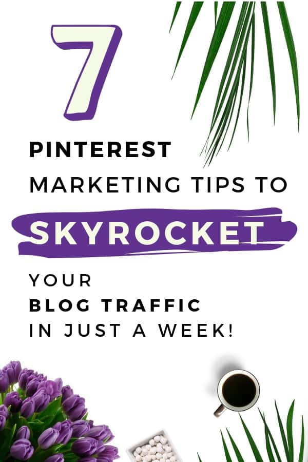 Pinterest marketing tips to skyrocket your blog traffic within no time. Learn how to use pinterest in the best possible way #pinterestmarketing #blogtraffictips #socialmediamarketing #