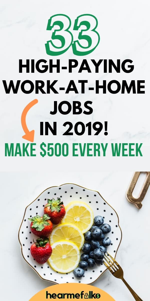 Work from home jobs for people lookiing to make extra money on the side. #makeextracash #earnmoney #sidejobs