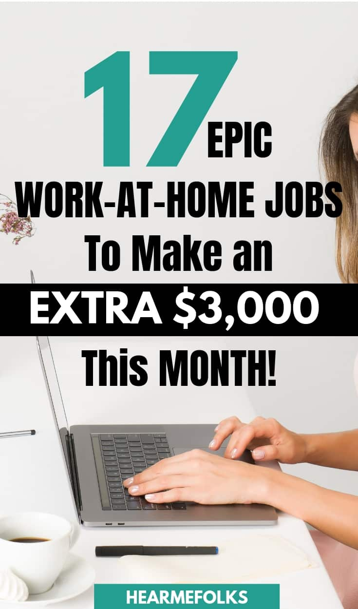 17 legitimate work form home jobs that pay you extra $3000 #workathomejobs #workfromjobs #workfromhomecompanies #workfromhomecompaniesthatpayweekly #freelancingjobs