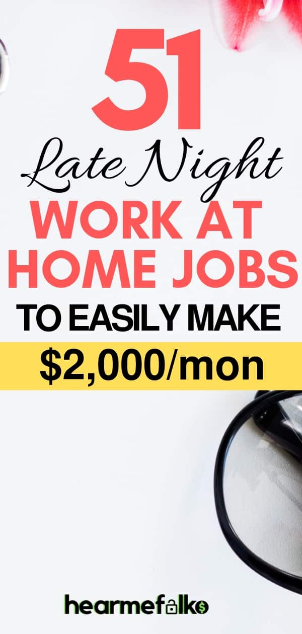 late night work at home jobs that pay often #workfromhomejobs #earnmoneyonline #stayathomejobs
