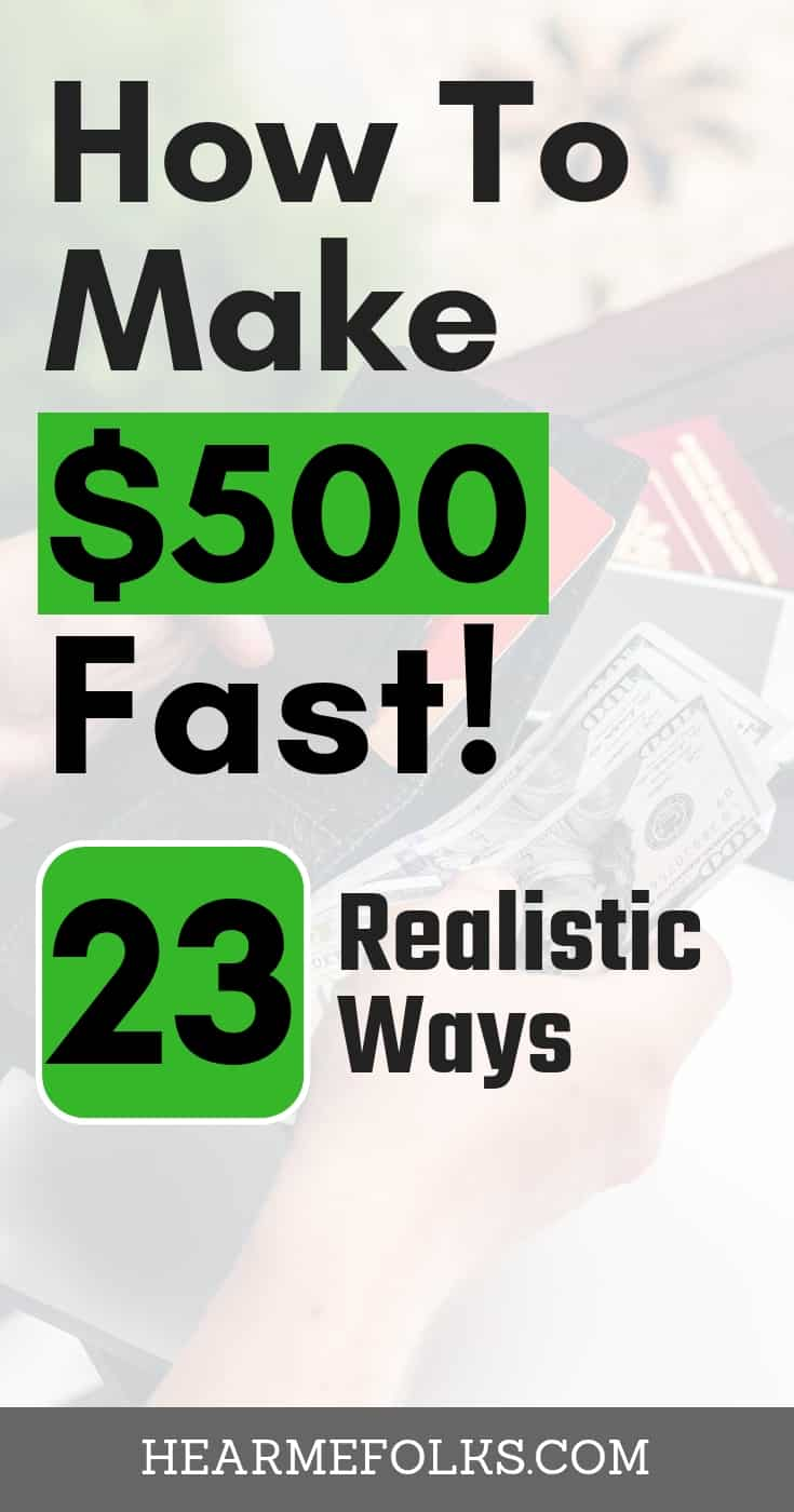 Make money fast. Learn to make 500 dollars fast in a wek realistically