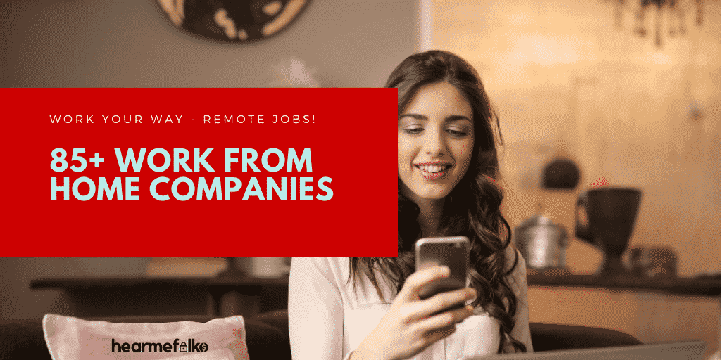 best remote jobs websites - work from home companies