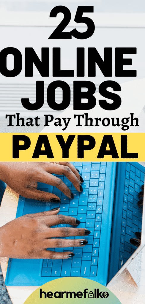 online jobs that pay through paypal