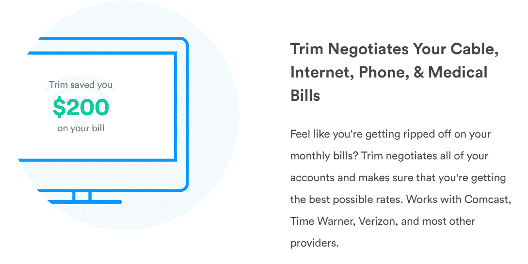 trim is a money management app
