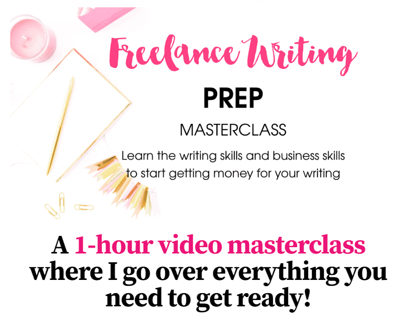 freelance writing prep masterclass