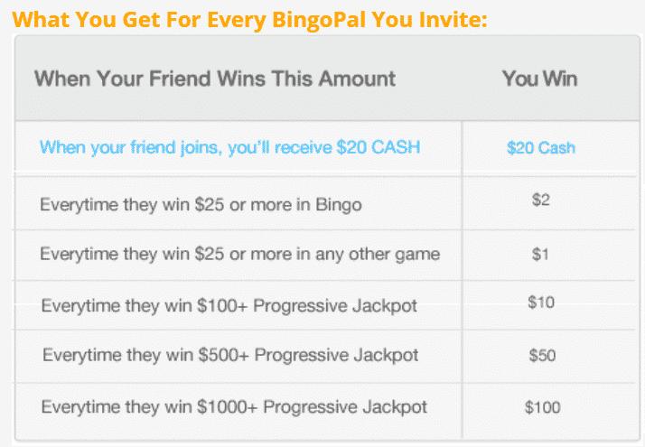 BingoPal referral program