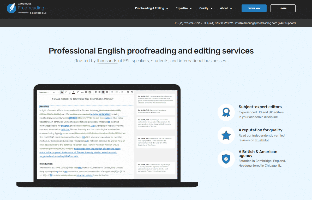 Cambridge Proofreading and Editing Services
