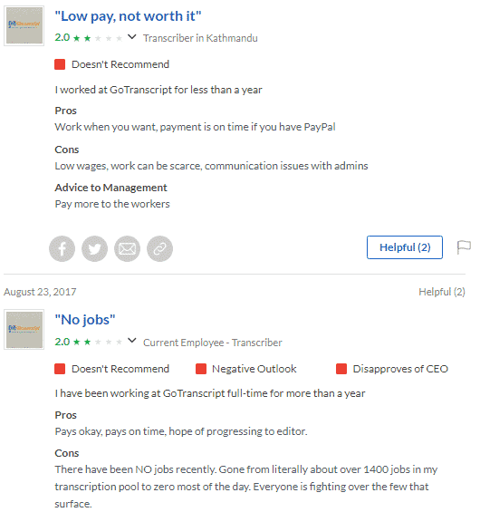 Gotranscript Employee Reviews on Glassdoor