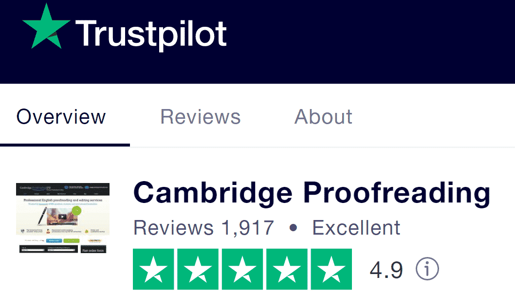 Cambridge Proofreading Trustpilot Review