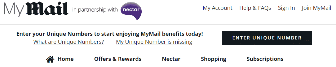 My Mail and Nectar Rewards Program