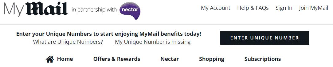 My Mail and Nectar Rewards Program