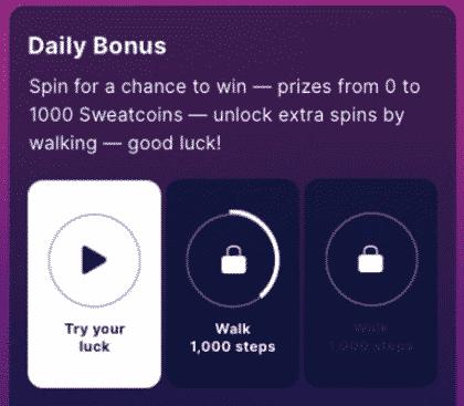 Sweatcoin Daily Bonus