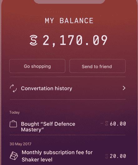 Balance on Sweatcoin