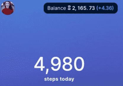 Sweatcoin walking step counter on Appstore
