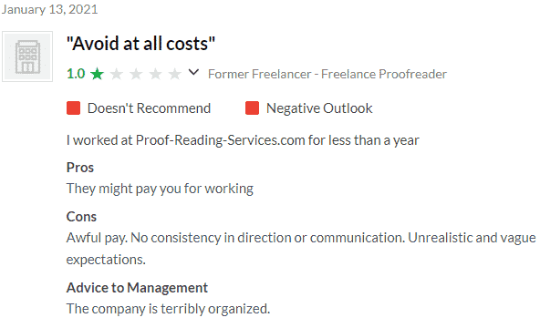 Proofreading Services Glassdoor Review