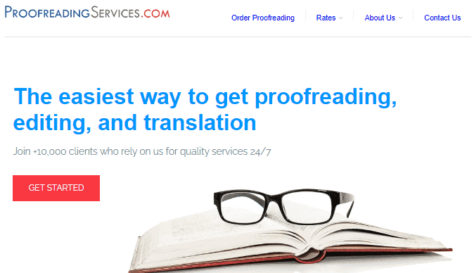 Proofreading Services Website