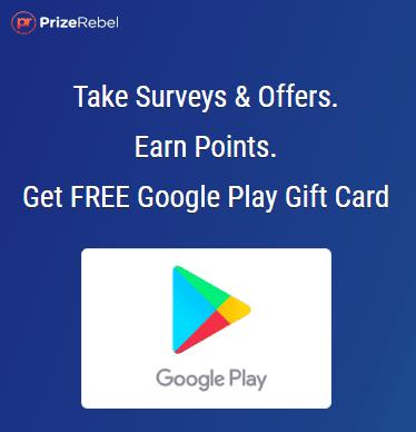 PrizeRebel Google Play Gift Card