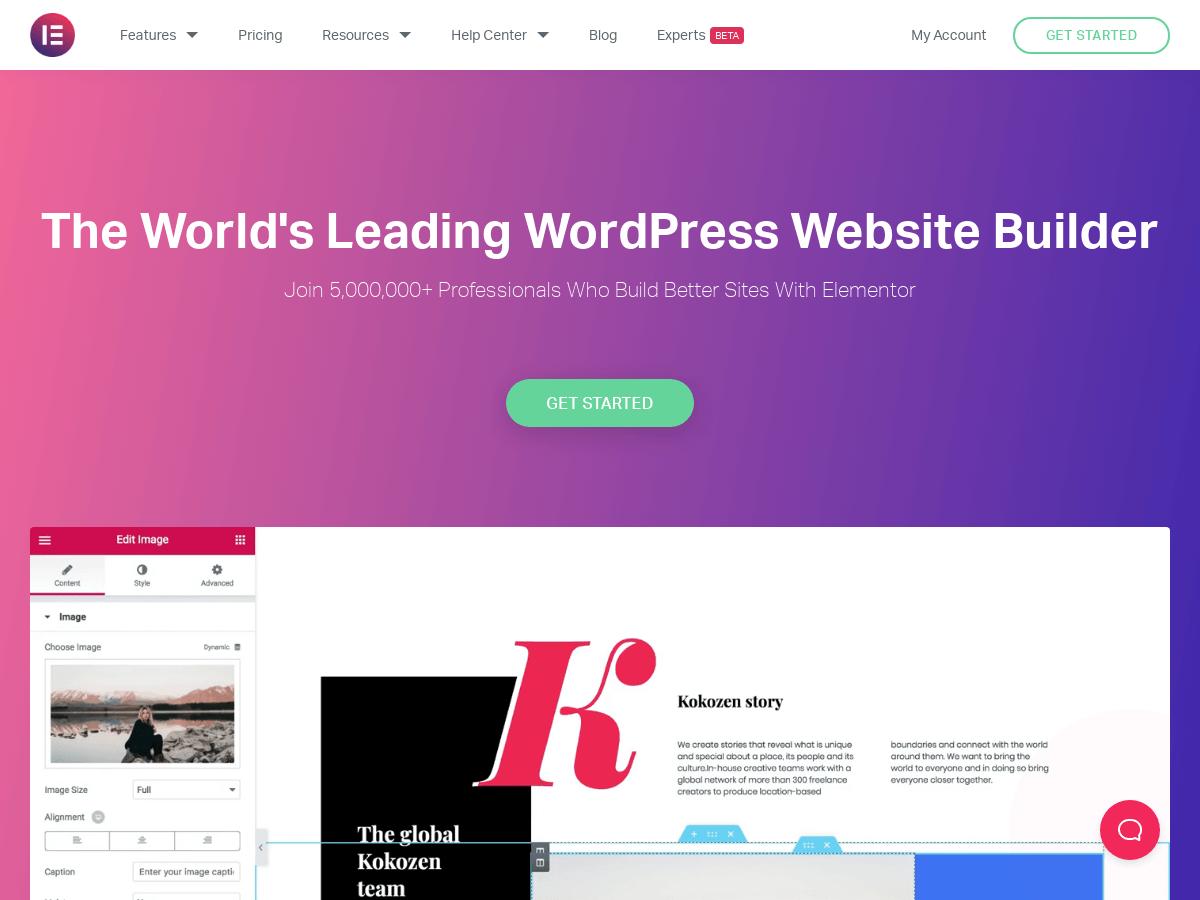 Elementor_ #1 Free WordPress Website Builder _ Elementor.com