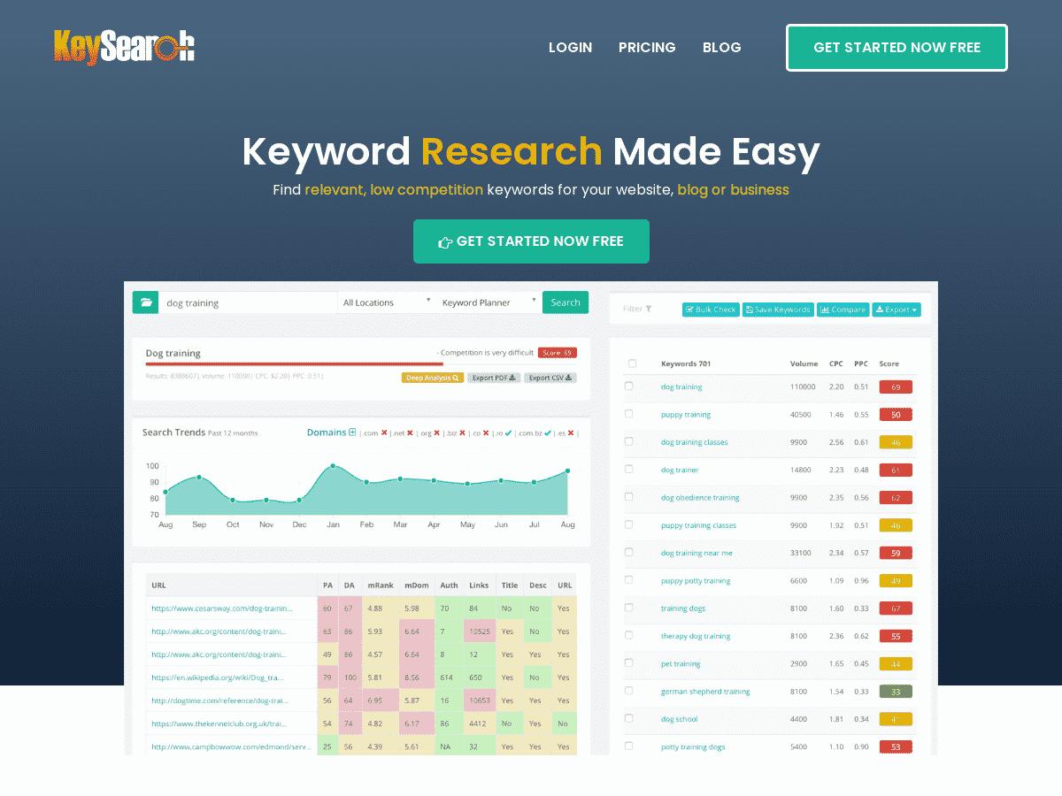 Keysearch_ Keyword Research Tool _ SEO Analysis & Difficulty Checker