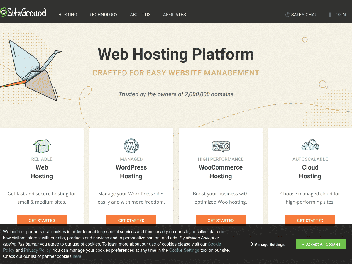 Web Hosting Services Crafted with Care - SiteGround